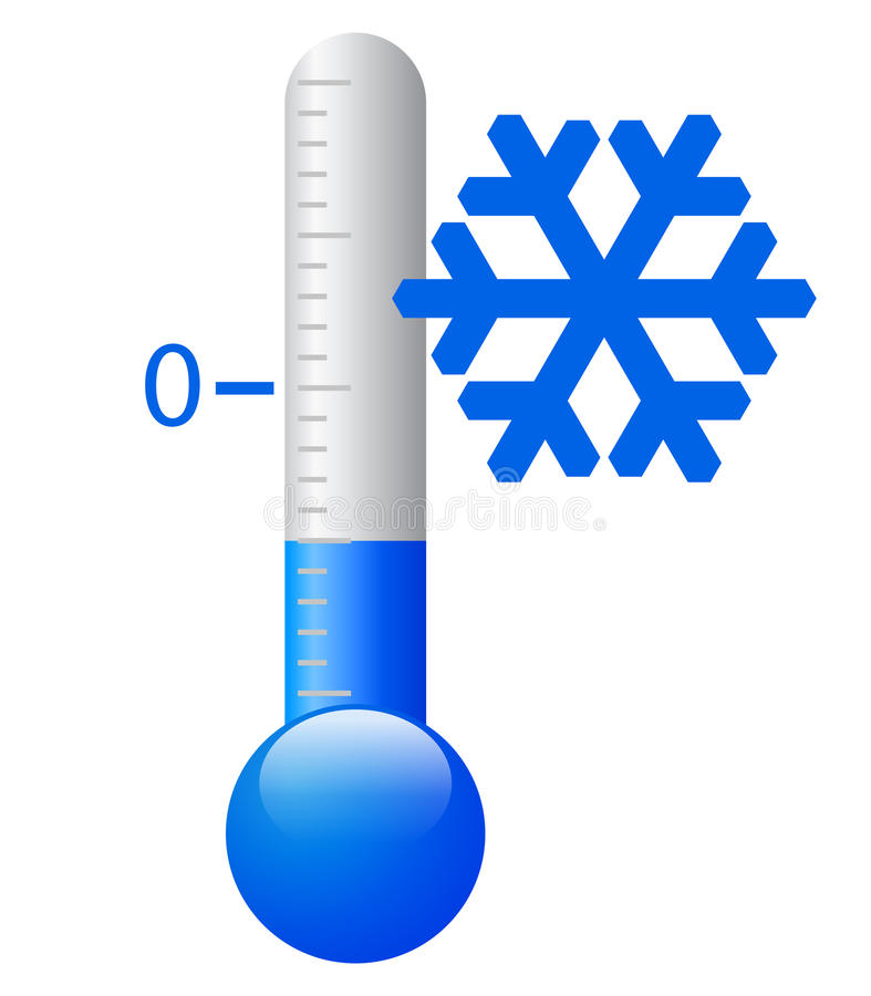Vector ijskoud symbool royalty-vrije illustratie