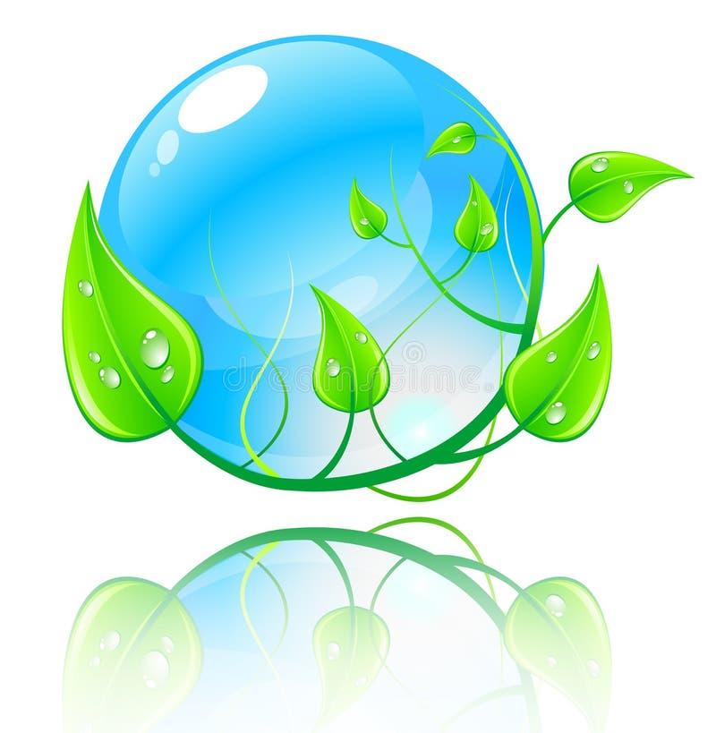 Vector il concetto verde e blu dell'illustrazione. illustrazione vettoriale