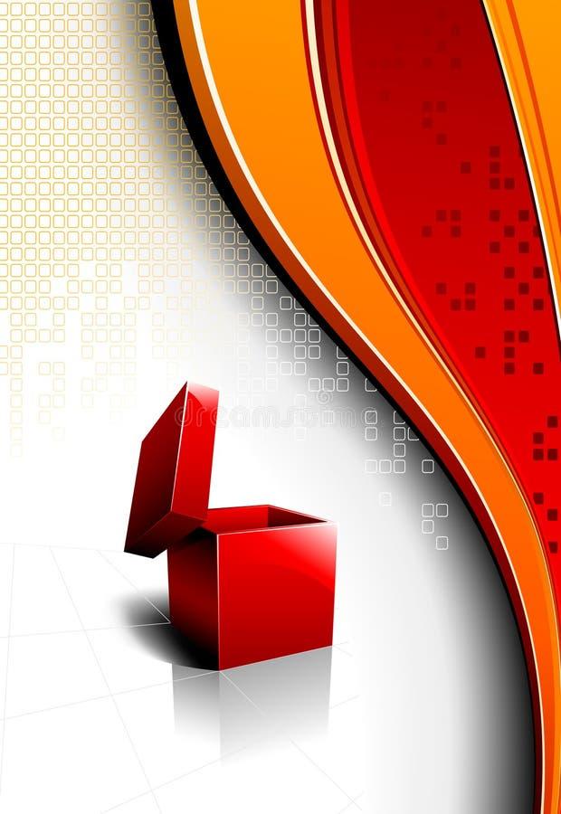 Vector il disegno con una casella rossa aperta illustrazione vettoriale