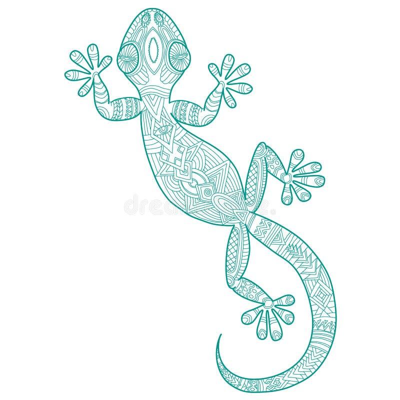 Vector il disegno di un geco della lucertola con i modelli for Disegno geco