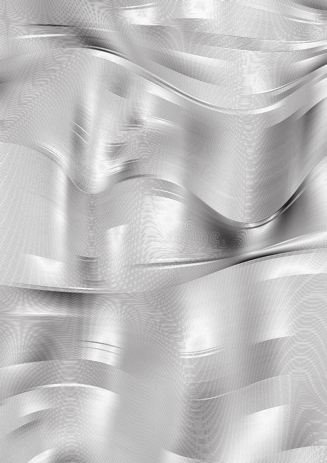 Vector il fondo astratto con il web grigio delle linee su bianco illustrazione di stock