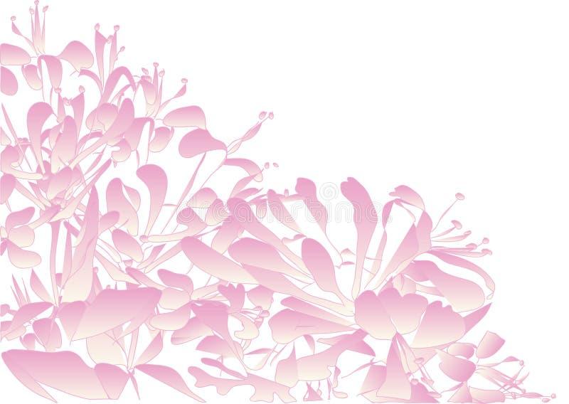 Vector il fondo del modello decorativo dei piccoli fiori di rosa fotografia stock libera da diritti