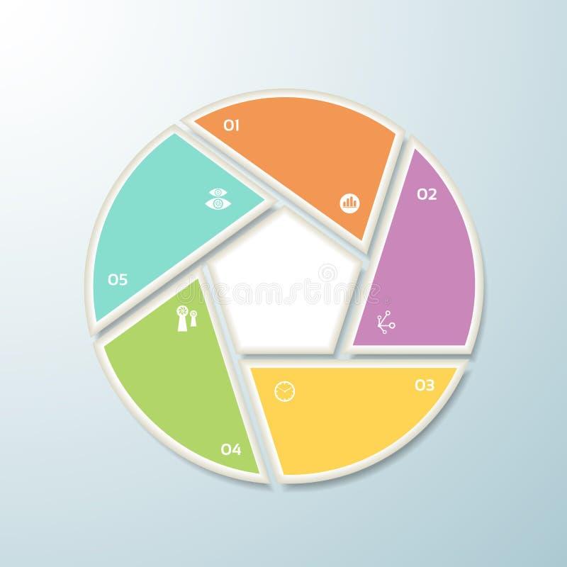 Vector il fondo di progresso/la scelta o versione di prodotto. illustrazione di stock