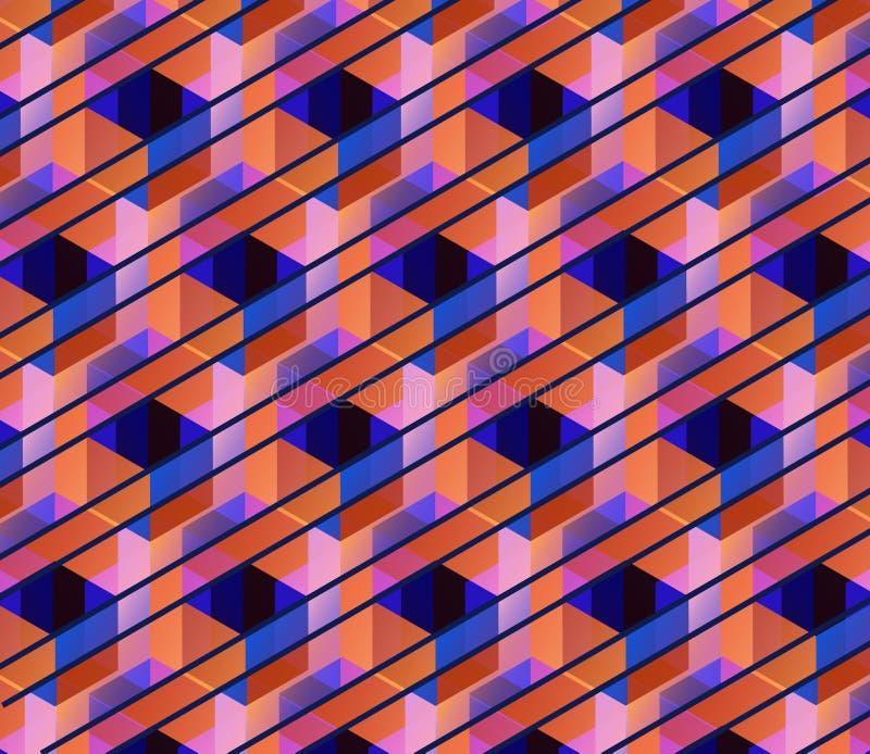 Vector il fondo geometrico illustrazione di stock