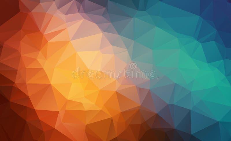 Vector il fondo geometrico poligonale moderno astratto del triangolo del poligono Fondo geometrico variopinto del triangolo illustrazione di stock