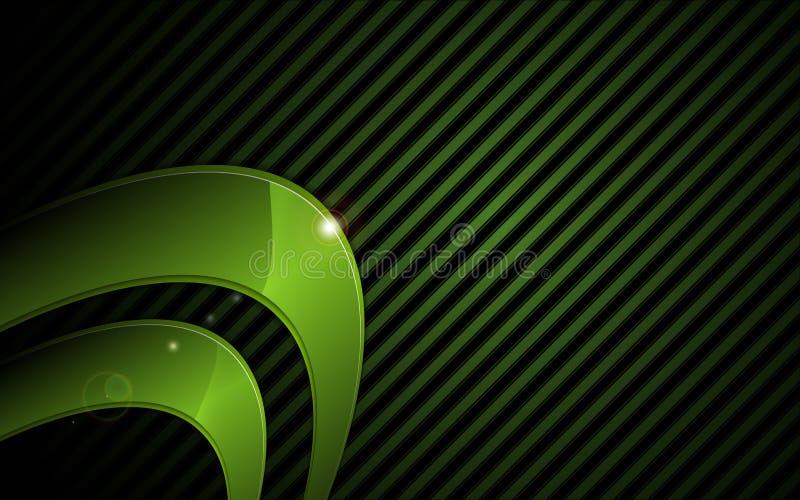Vector il fondo grafico metallico verde astratto di concetto di tecnologia della struttura ciao illustrazione vettoriale