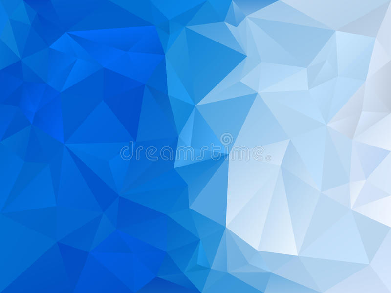 Vector il fondo irregolare del poligono con un modello del triangolo nel colore degli azzurri - pendenza diagonale illustrazione di stock