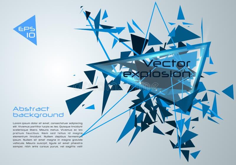 Vector il fondo variopinto astratto con l'esplosione blu di vettore illustrazione di stock