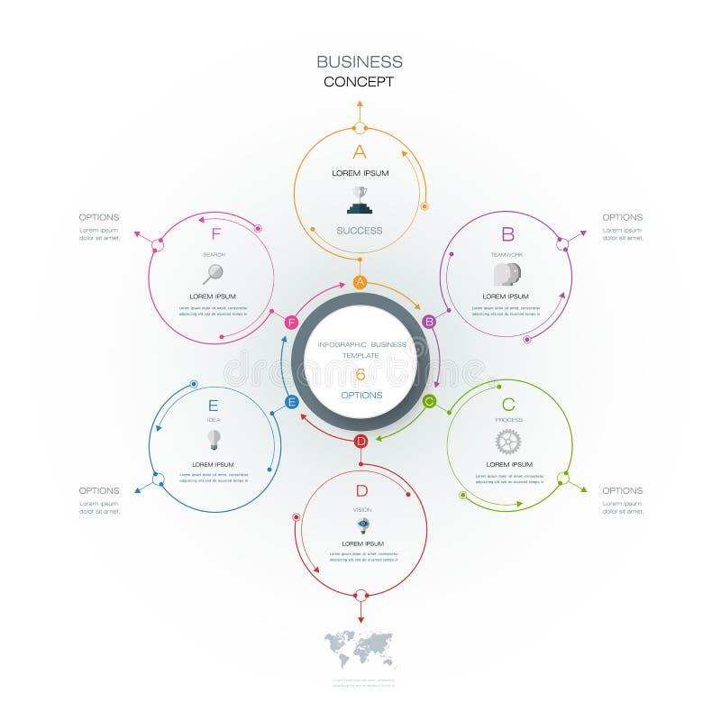 Vector il infographics, modello di carta del diagramma del ciclo 3D royalty illustrazione gratis