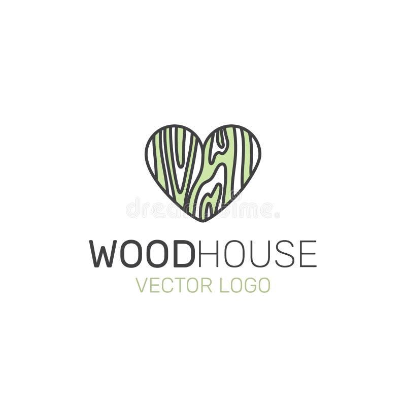 Vector il logo dell'illustrazione di stile dell'icona per Wood or Carpet Company illustrazione di stock