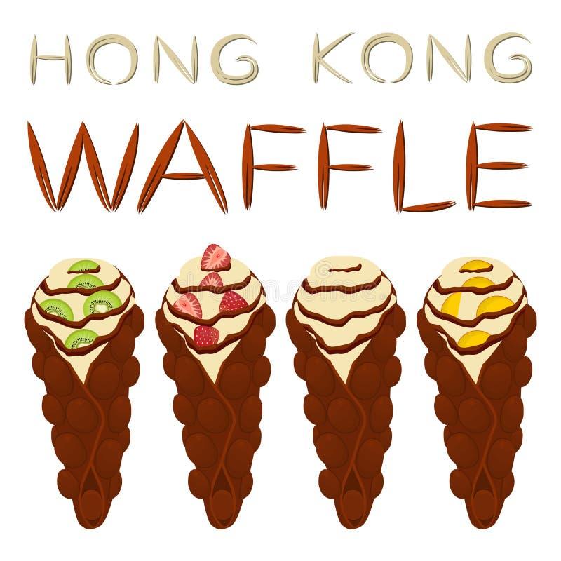 Vector il logo dell'illustrazione dell'icona per il vario wa dolce di Hong Kong dell'insieme royalty illustrazione gratis