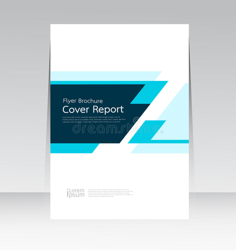 Vector il modello astratto del manifesto di rapporto della copertura di struttura di progettazione illustrazione di stock