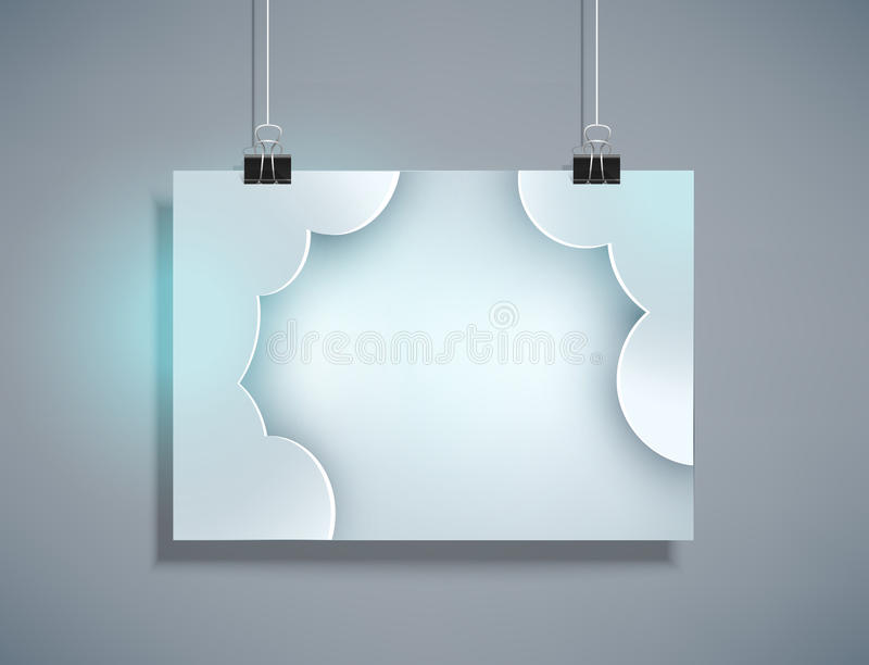 Vector il modello grigio per progettazione che appende sulla parete (orizzontale illustrazione vettoriale