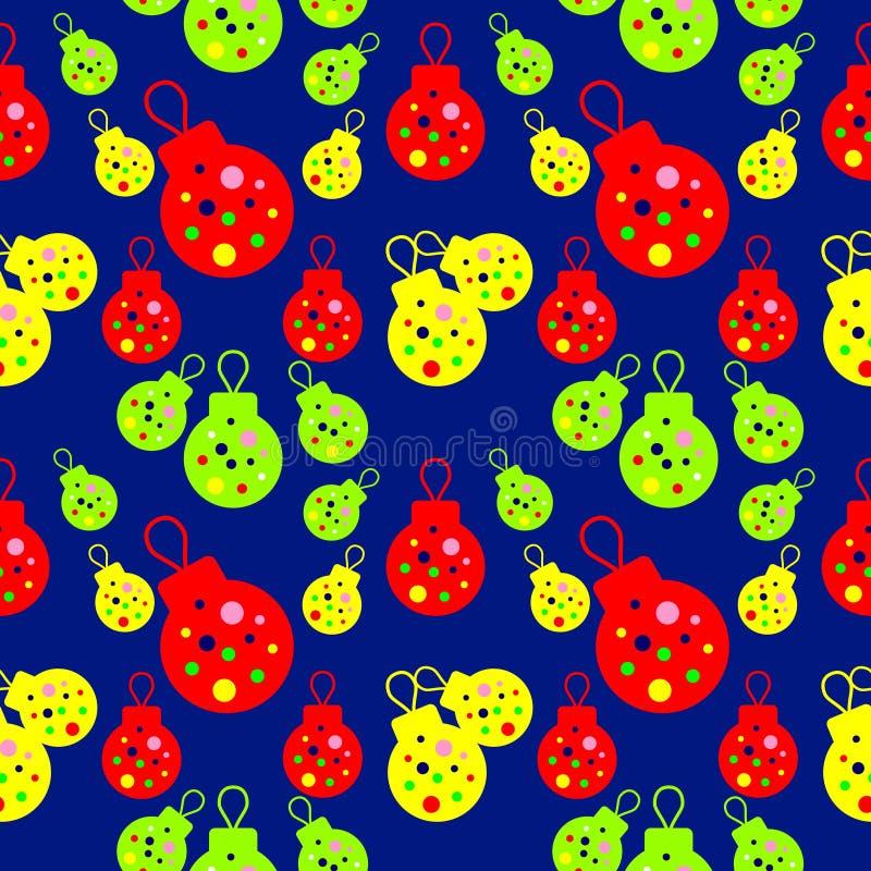Vector il modello senza cuciture con gli elementi del chri rosso, giallo, verde illustrazione di stock