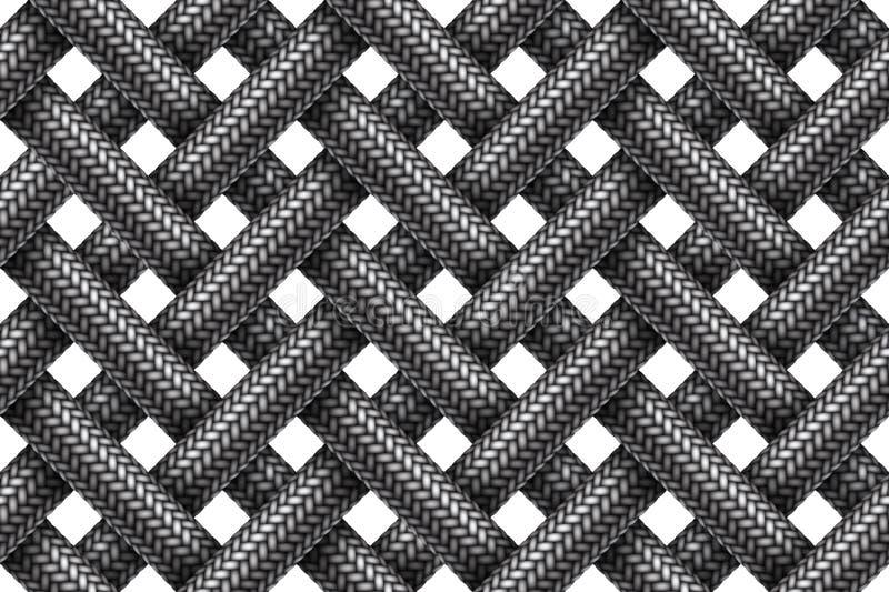 Vector il modello senza cuciture dei cavi intrecciati tessuto d'intersezione illustrazione vettoriale