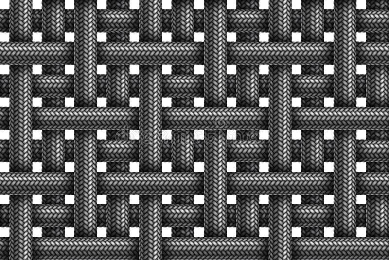 Vector il modello senza cuciture dei cavi intrecciati tessuto a strisce illustrazione vettoriale