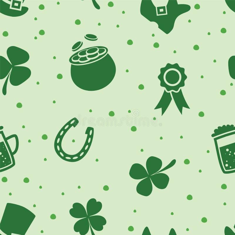 Vector il modello senza cuciture del giorno del ` s di St Patrick dell'Irlandese illustrazione vettoriale