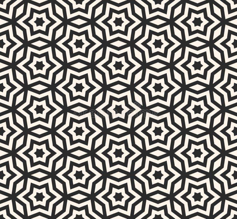 Vector il modello senza cuciture geometrico, la struttura monocromatica w dell'ornamento royalty illustrazione gratis