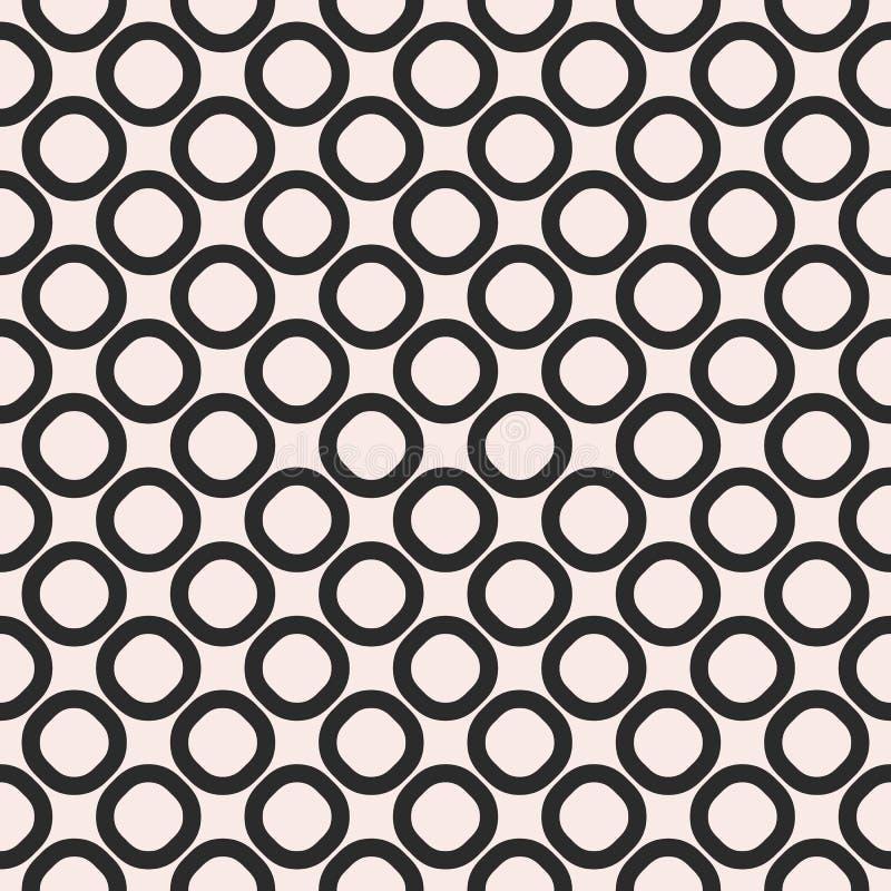 Vector il modello senza cuciture, la struttura bianca e nera, anelli vacillati illustrazione vettoriale