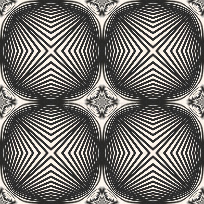 Vector il modello senza cuciture a strisce con le linee trasversali diagonali, le bande, stelle illustrazione vettoriale