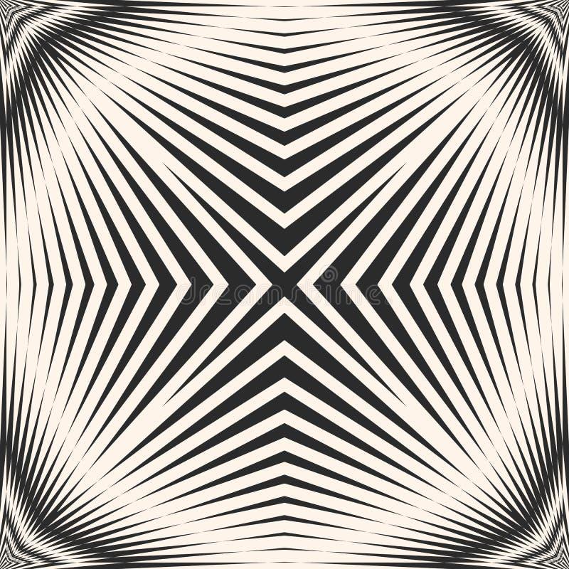 Vector il modello senza cuciture a strisce con le linee trasversali diagonali, intersecanti le bande illustrazione vettoriale