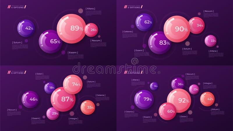 Vector il modello variopinto per creare il infographics, la presentazione illustrazione vettoriale