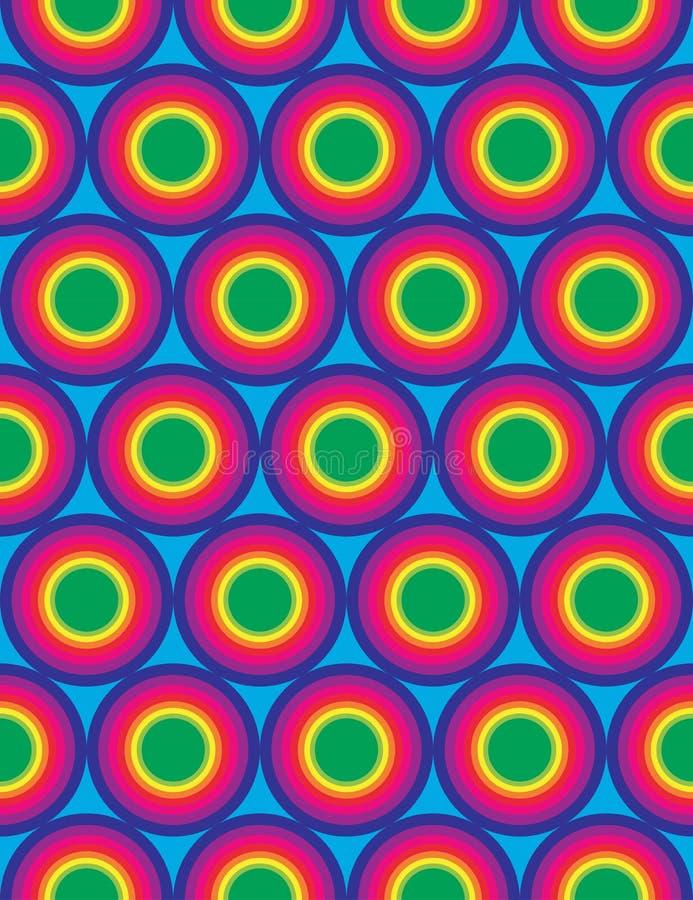 Vector il modello variopinto senza cuciture moderno dei cerchi della geometria, estratto dell'arcobaleno di colore illustrazione vettoriale