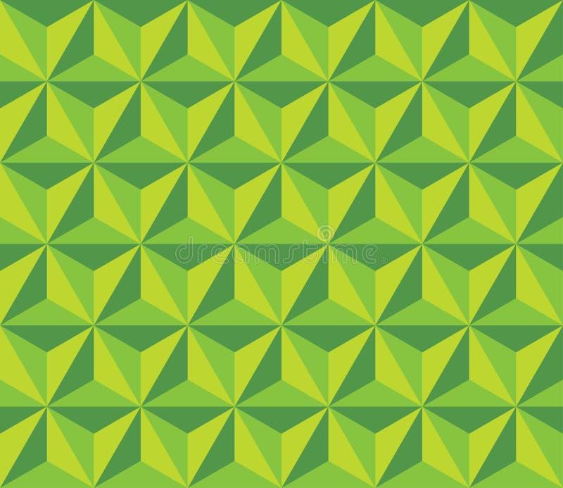 Vector il modello variopinto senza cuciture moderno di esagono di triangol della geometria, estratto verde di colore illustrazione vettoriale