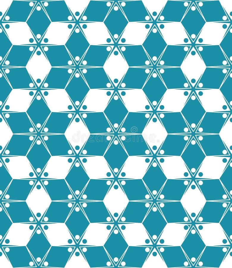 Vector il modello variopinto senza cuciture moderno floreale, fondo geometrico astratto della geometria di colore royalty illustrazione gratis