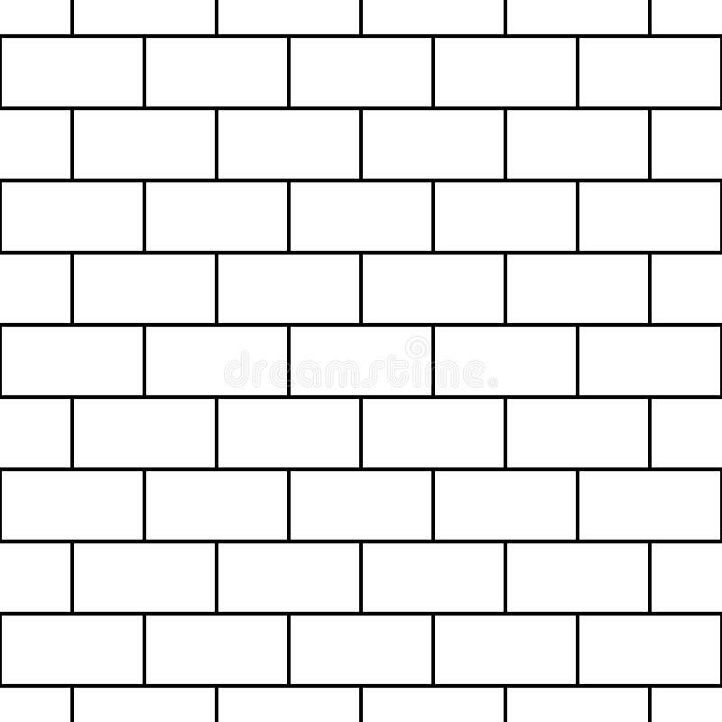 Vector il muro di mattoni senza cuciture moderno del modello della geometria, estratto in bianco e nero royalty illustrazione gratis