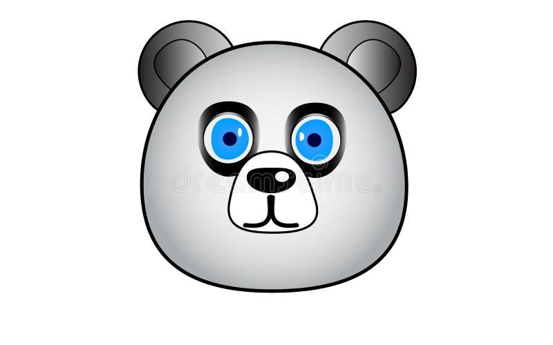 Vector il panda sveglio con gli occhi azzurri su fondo bianco, eps10 illustrazione vettoriale