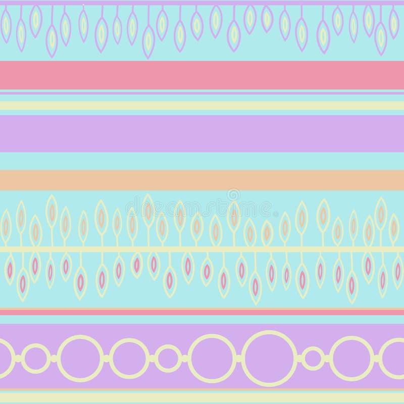 Vector il picchiettio geometrico etnico disegnato a mano artistico grafico senza cuciture romantico addolcisca etnico semplice royalty illustrazione gratis