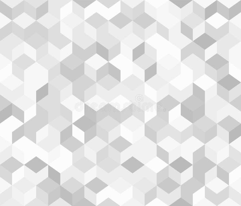 Vector il reticolo senza giunte Fondo grigio 3D royalty illustrazione gratis