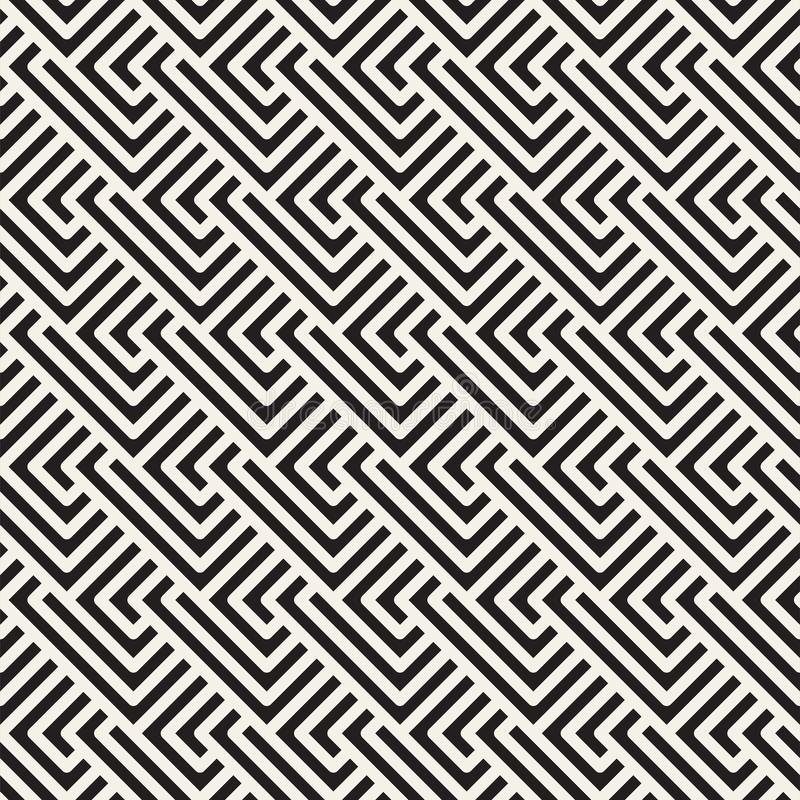 Vector il reticolo senza giunte Ornamento a strisce geometrico Linee tileable semplici fondo illustrazione vettoriale