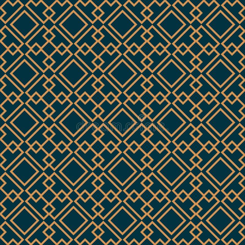 Vector il reticolo senza giunte struttura alla moda moderna Ornamento a strisce geometrico modello lineare di lusso illustrazione vettoriale