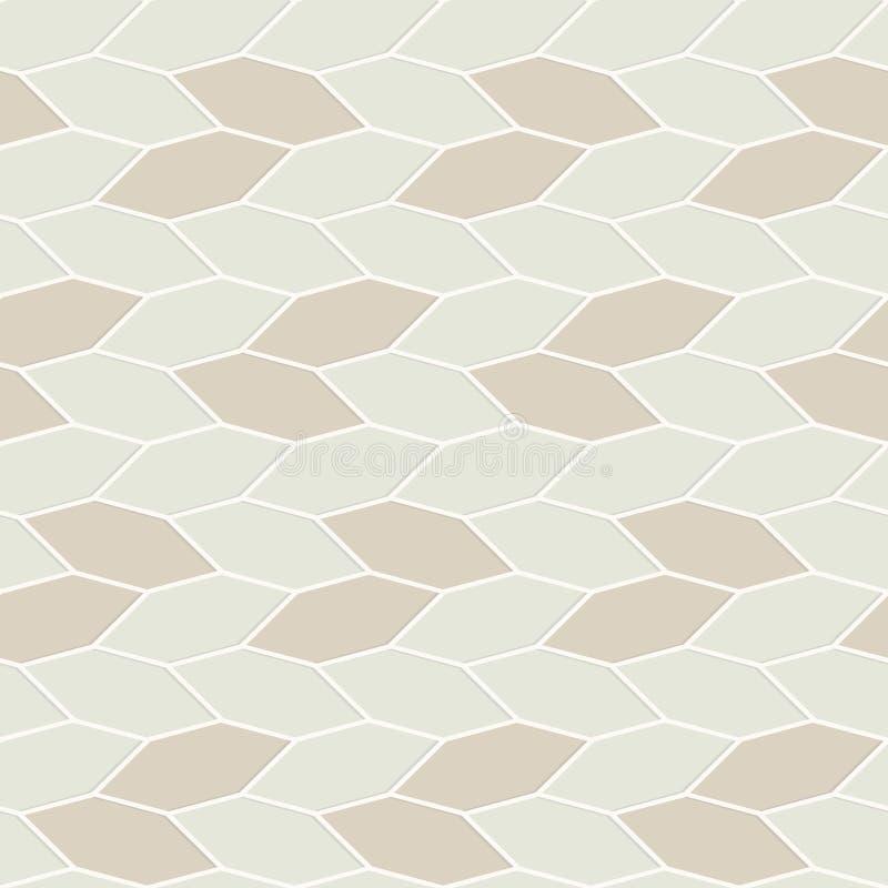 Vector il reticolo senza giunte struttura alla moda moderna Ripetizione del fondo geometrico con le scatole di esagono illustrazione vettoriale