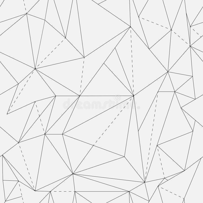 Vector il reticolo senza giunte struttura alla moda moderna Ripetizione delle mattonelle geometriche con il rombo punteggiato fotografia stock