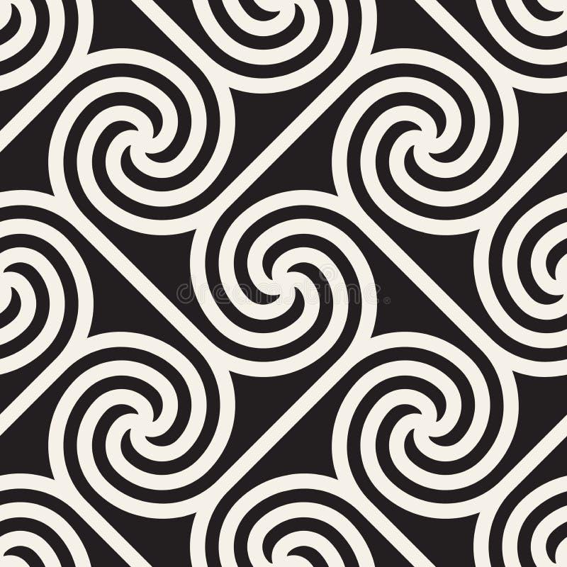Vector il reticolo senza giunte Struttura astratta alla moda moderna Ripetizione del tilesn geometrico illustrazione vettoriale