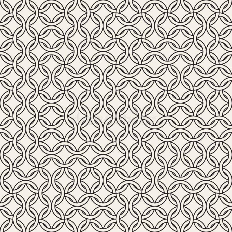 Vector il reticolo senza giunte Struttura astratta alla moda moderna Ripetizione delle mattonelle geometriche fotografia stock