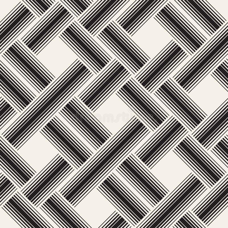 Vector il reticolo senza giunte Struttura astratta alla moda moderna Ripetizione delle mattonelle geometriche immagini stock libere da diritti