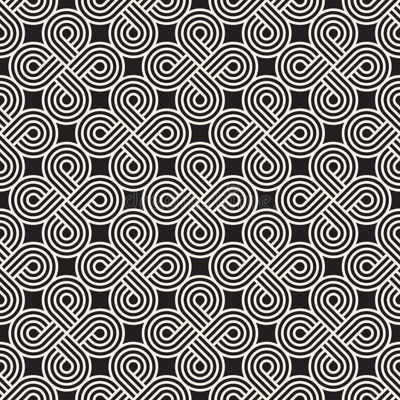 Vector il reticolo senza giunte Struttura astratta alla moda moderna Ripetizione delle mattonelle geometriche fotografia stock libera da diritti