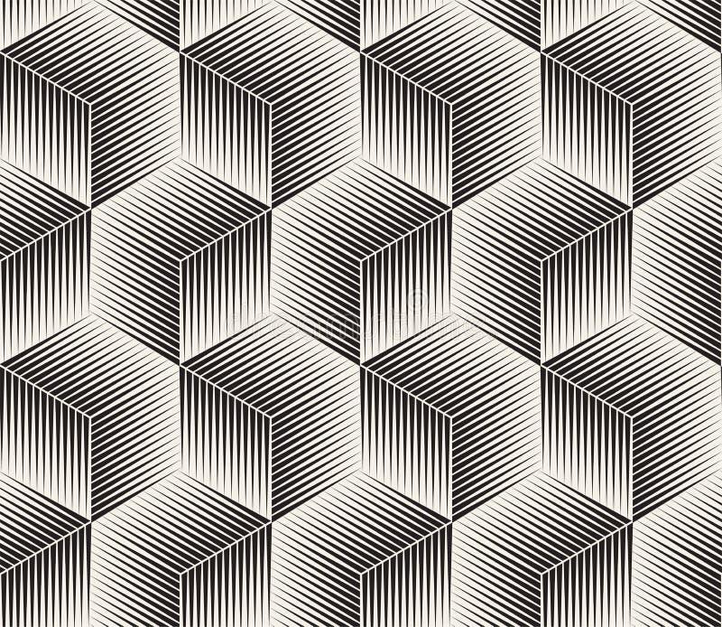 Vector il reticolo senza giunte Struttura astratta alla moda moderna Ripetizione delle mattonelle geometriche immagine stock