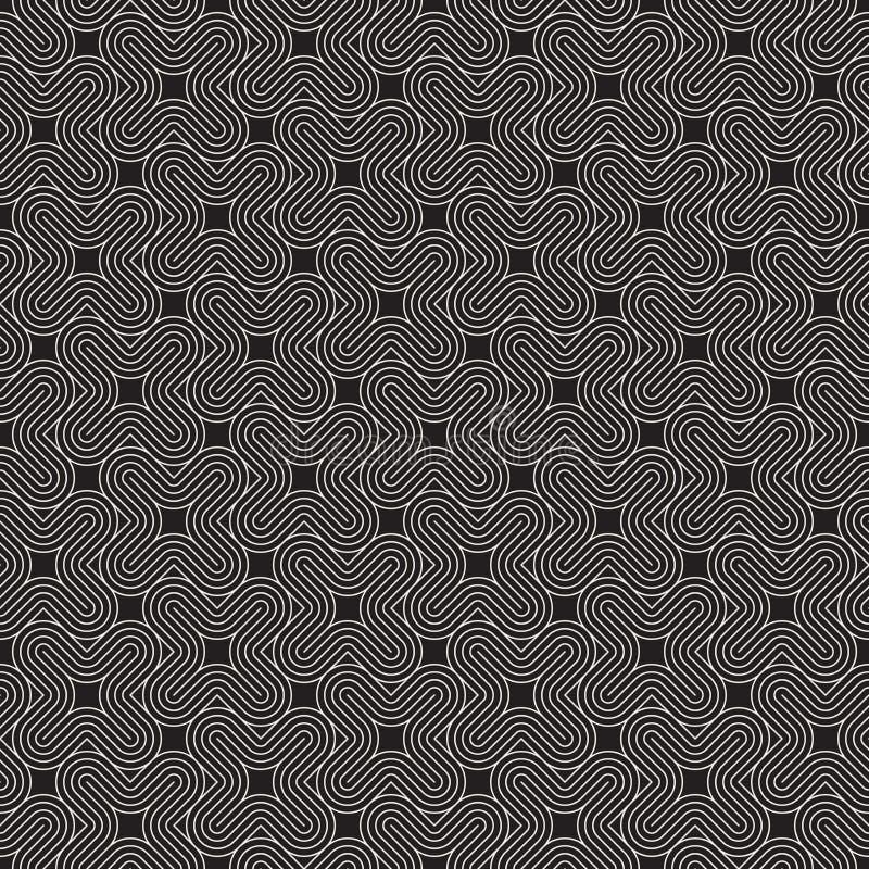 Vector il reticolo senza giunte Struttura astratta alla moda moderna Ripetizione geometrica fotografia stock