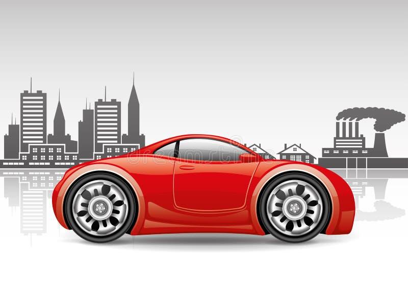 Vector il segno Automobile della città illustrazione vettoriale