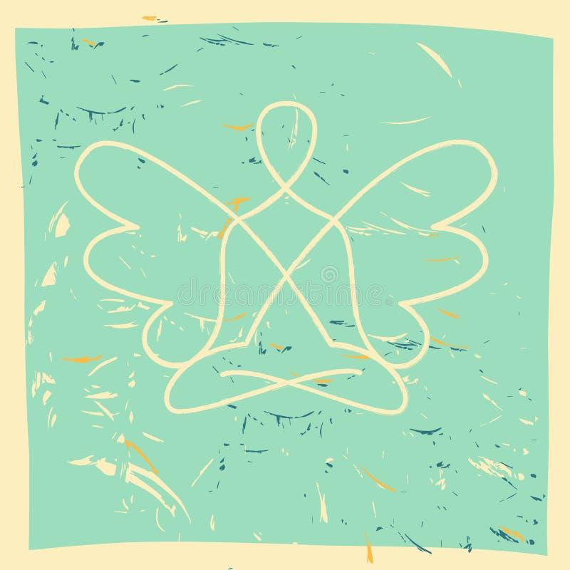 Vector il simbolo di yoga, la meditazione, spiritualità royalty illustrazione gratis