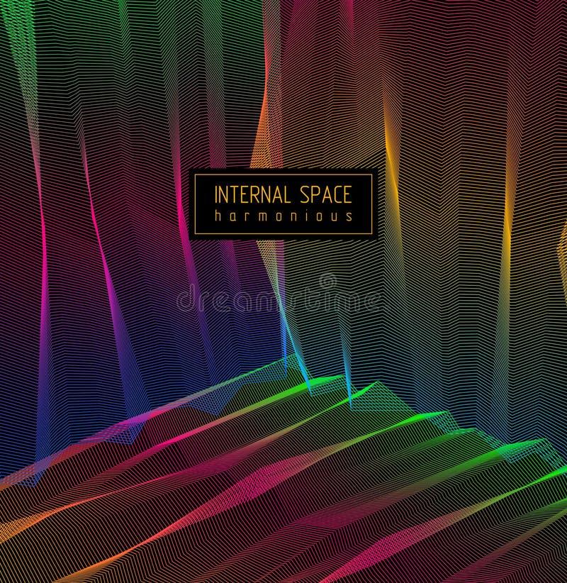Vector illusive surreal kunstachtergrond voor ontwerp zoals een halluci stock illustratie