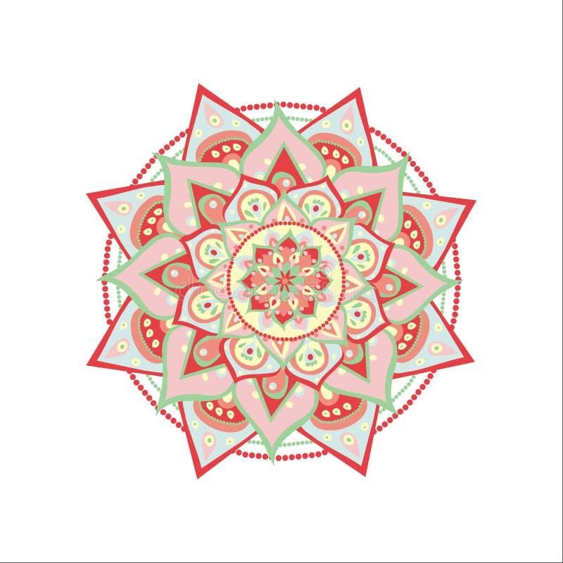 Vector illustrated mandala royalty free illustration