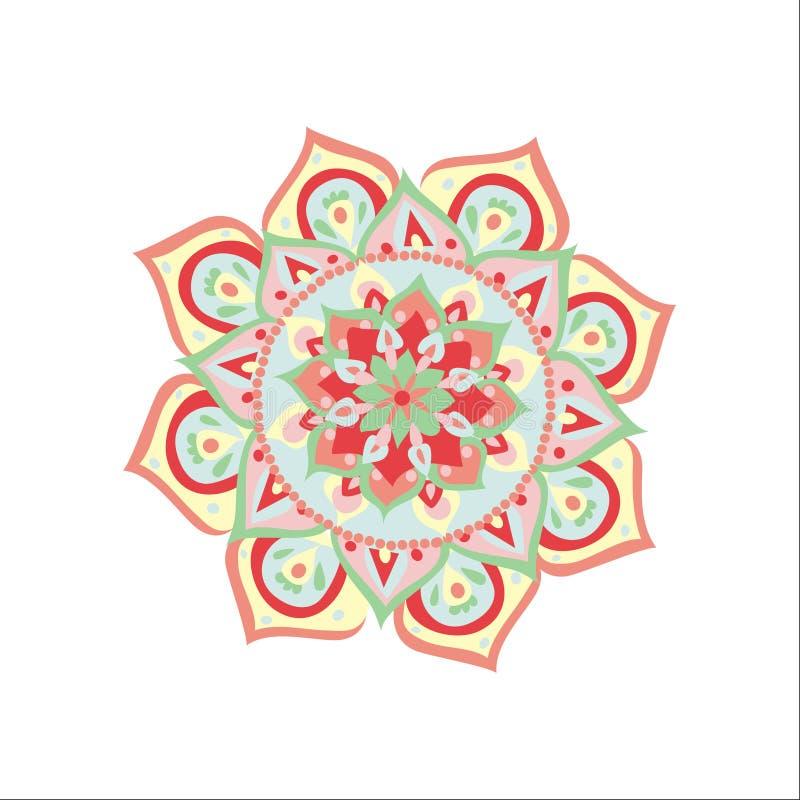 Vector illustrated mandala stock illustration