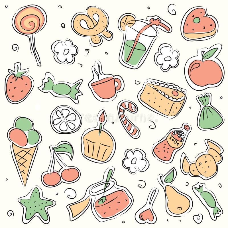 Download Vector Illustrated Sweets Royalty Free Stock Photo - Image: 10059625