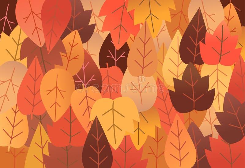 Vector illustratie Achtergrond met droge bladeren royalty-vrije stock foto